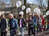 Losse ballonnen gevuld met helium