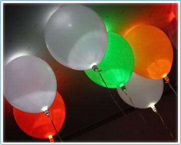 Ballonnen met Led-verlichting