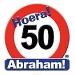 Huldeschild hoera 50 Abraham