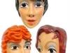 Masker jonge vrouw plastic